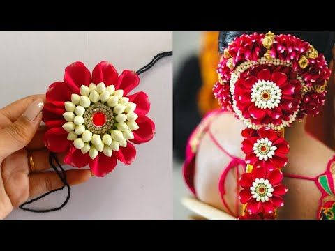 Jada Billalu Making With Rose Petals Diy Bridal Jada Billalu Pelli Poola Jada Diy Poola Jada Youtube In 2020 Rose Petals Diy Fabric Flowers Diy Flower Crafts