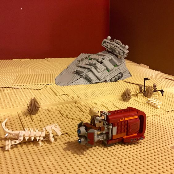 Rey's Speeder on Jakku - Lego Star Wars - The Force Awakens