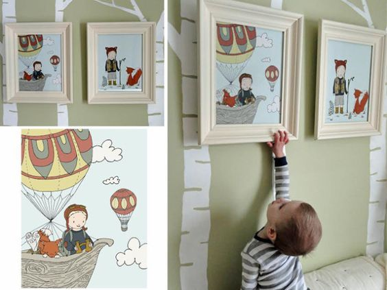 Nursery wall art - such fun, whimsical prints (customizable, too!) from Sweet Melody Designs! #nursery #wallart @Carrie Tomaschko