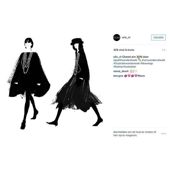 Did you already check out @elle_nl ? I made some illustrations of the latest Chanel FW16 collection 💓💖🙏 Stay tuned. More exciting things coming up 😉  #art #illustration #drawing #draw #picture #artist #sketch #sketchbook #paper #pen #pencil #artsy #instaart #beautiful #instagood #gallery #masterpiece #creative #photooftheday #instaartist #graphic #graphics #artoftheday