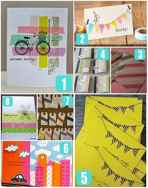 washi tape projects: Card Idea, Washi Tape Cards, Diy Washi, Tape Ideas, Diy Project, Washi Card