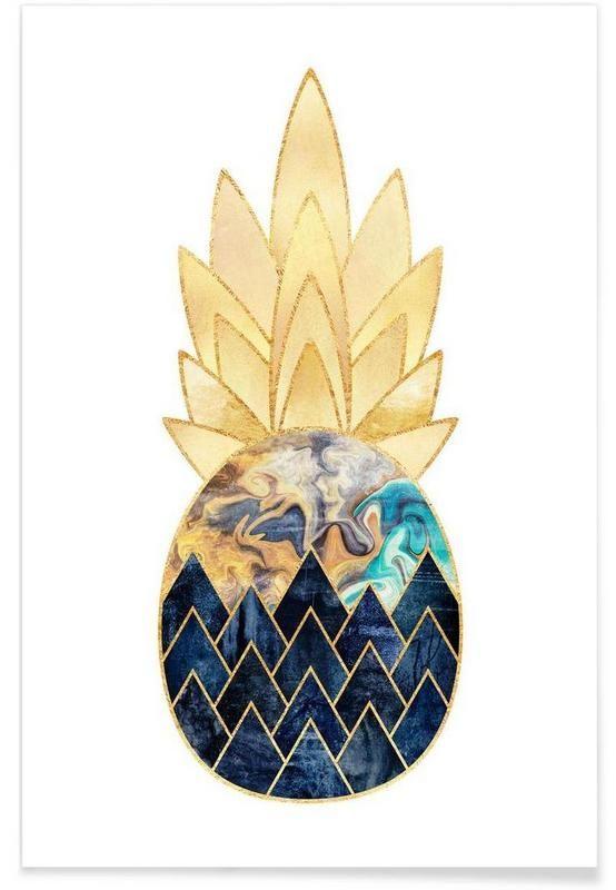 Precious Pineapple 1 en Affiche premium par Elisabeth Fredriksson | JUNIQE