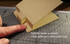 For the Love of Paper: Post It Note Holder with a Twist Tutorial