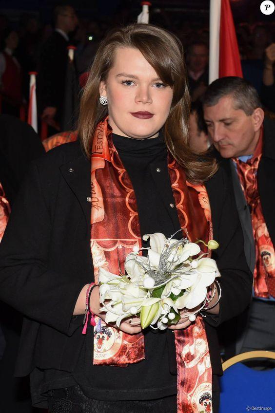 Camille Gottlieb, la dernière fille de la princesse, arrivent pour assister à la 3eme soirée du 40eme Festival International du Cirque de Monte Carlo, le 16 janvier 2016. © Eric Mathon / Pool Monaco / Bestimage