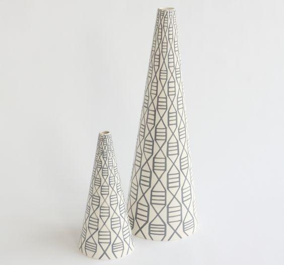 DwellStudio  Herring Cone Vase