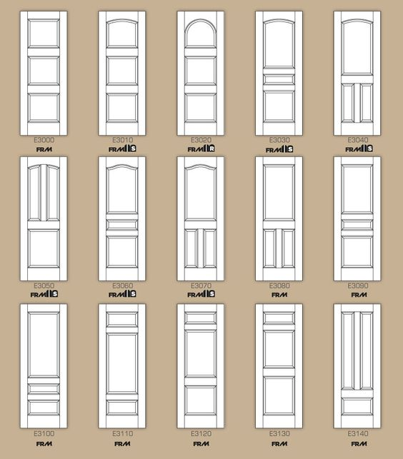 Std interior door designs part 2 infographics for Interior door types