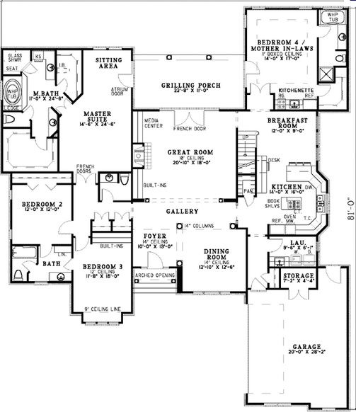House plans with mother in law suites inspiration design for Mother in law suite
