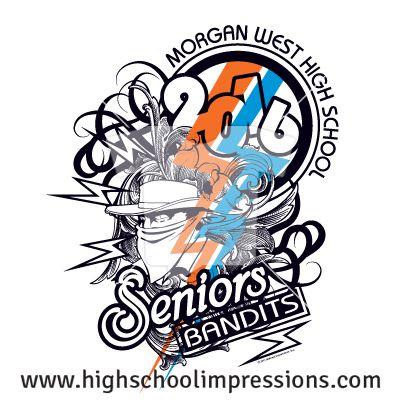 High School Impressions: Senior T-Shirts, Custom Student Council T Shirts, DECA, FBLA, High School Club TShirts - Create your own design for t-shirts, hoodies, sweatshirts. Choose your Text, Ink and Garment Colors. SEN-025-W