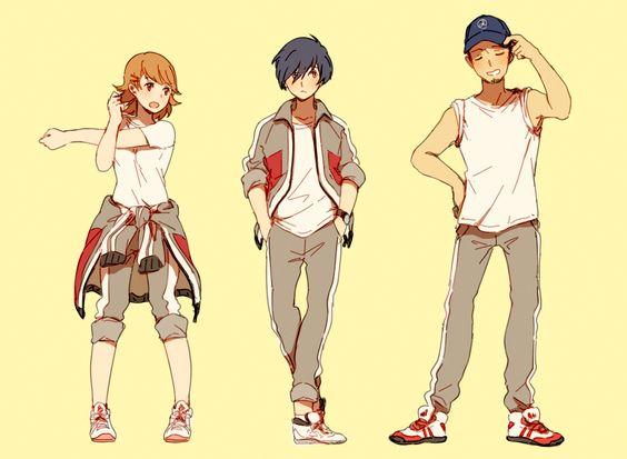 Yukari Takeba, Minato Arisato, Junpei Iori, Persona 3 ... Yukari Takeba And Minato Arisato