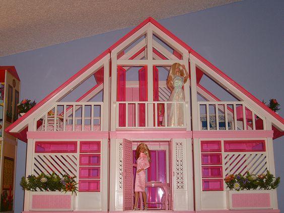 Vintage Pink Barbie House