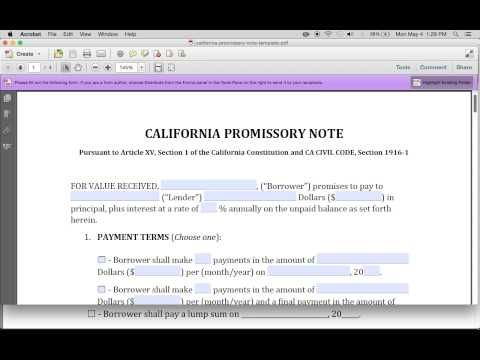 Download Blank Promissory Note Templates Pdf Rtf Word Freedownloads Net Promissory Note Notes Template Notes
