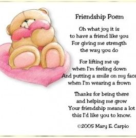 Friendship Poems For Kids