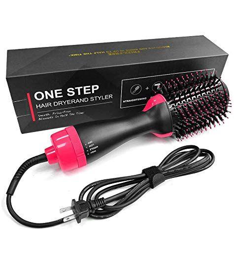 Hot Air Brush One Step Hair Dryer Styler Volumizer Multi Functional High Power 3 In 1 Salon Nega Hair Dryer Styler Hair Straightener And Curler Hair Dryer