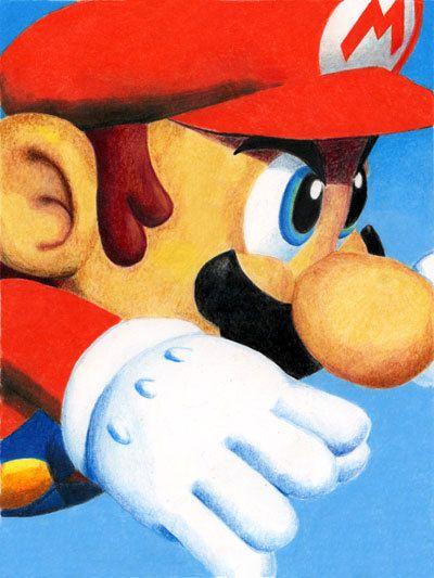 Mario Bros. by Jonathan Vizcuna, via Behance