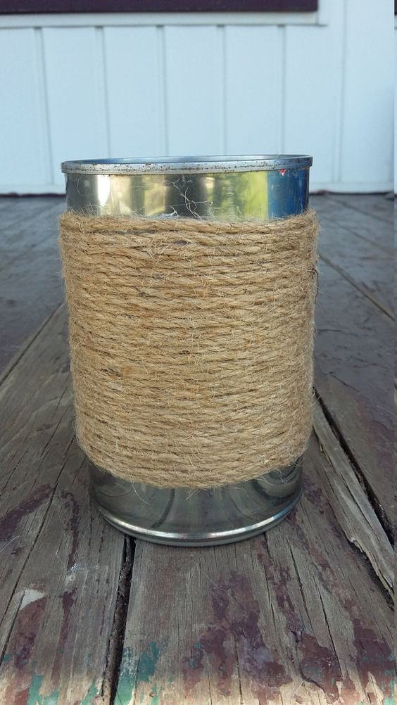 Tin Can Twine Centerpiece by ArtOfAlice on Etsy