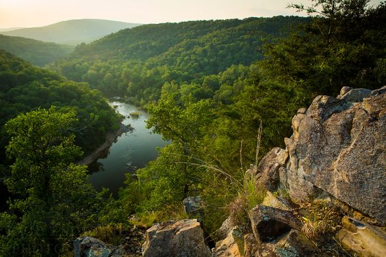 Lee's Bluff is along the St. Francis River in Madison County, Missouri. The 300+ foot bluff is along a wide bend in the river in the Mark Twain National Forest.   Photo by Kyle Spradley | © Kyle Spradley Photography | www.kspradleyphoto.com