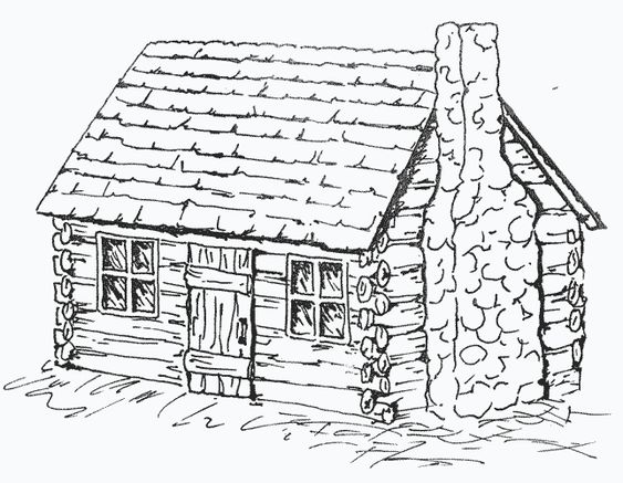 How To Draw A Colonial Log Cabin - Bing Images