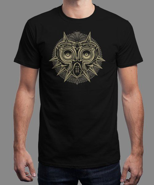 """MajorMask"" is today's £8/€10/$12 tee for 24 hours only on www.Qwertee.com Pin this for a chance to win a FREE TEE this weekend. Follow us on pinterest.com/qwertee for a second! Thanks:)"
