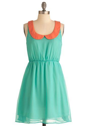 peter pan collar: Collar Palette, Dresses Modcloth, Collar Colors, Color Combos, Peter Pan Collars, Vintage Dress, Collar Dress