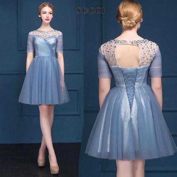 Evening dress over 60 very short