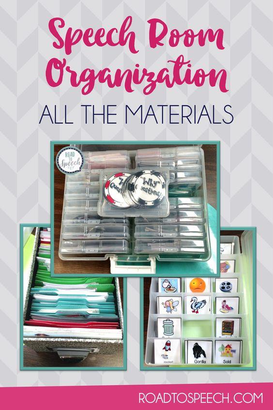 organize that speech room tpt materials room