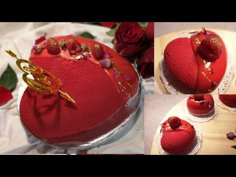 عيد الحب طرطة على شكل قلب بطريقة سهلة ومبسطة إلى حد كبير جدا Youtube Food Desserts Cake