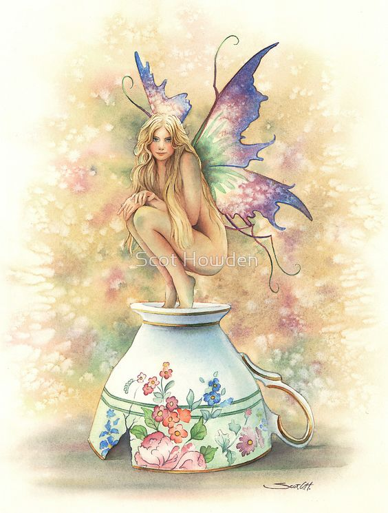 Tea Cup Fairy by Scot Howden