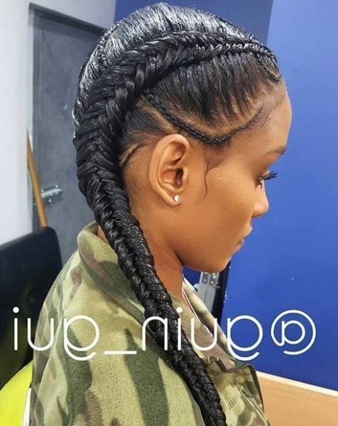 25 Best Ideas About Two Cornrow Braids With Images Weave