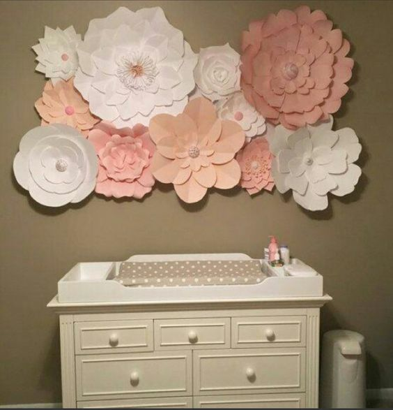 Color scheme for a baby girl nursery