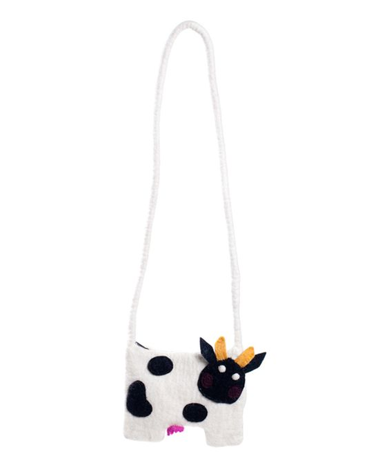 Black Cow Crossbody Bag by Earth Divas #zulily #zulilyfinds