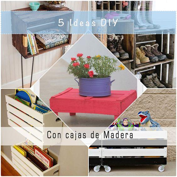 5 ideas diy con cajas de madera diy y manualidades - Cajas de madera manualidades ...