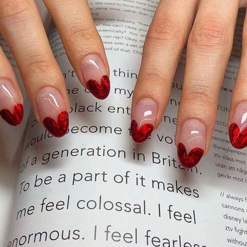 Best Valentine's Day Nails - 55 Vday Heart Melting Nails - FavNailArt.com