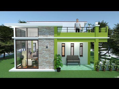 Planner 5d Build Small House Design With Mini Roof Deck Youtube Small House Design Plans House Construction Plan Home Building Design