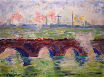 After Monet - Waterloo Bridge