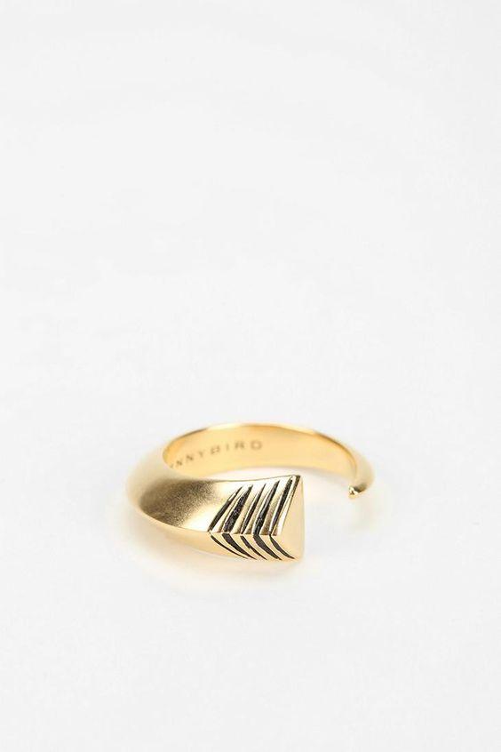 Jenny Bird Guardian Tusk Ring #urbanoutfitters