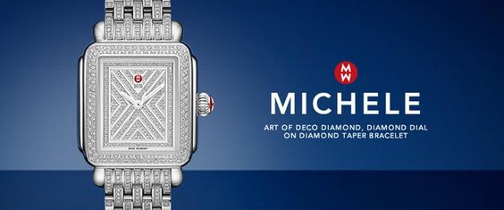 This MICHELE watch is simply stunning!