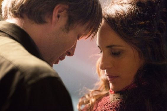 Still of Mads Mikkelsen and Alexandra Rapaport in The Hunt