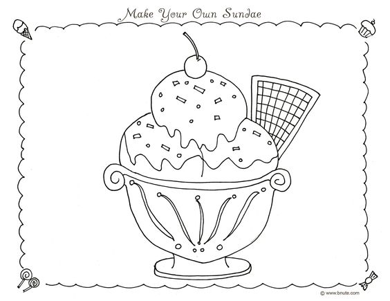 Ice cream coloring pages sweet and game art on pinterest for Sweet treats coloring pages