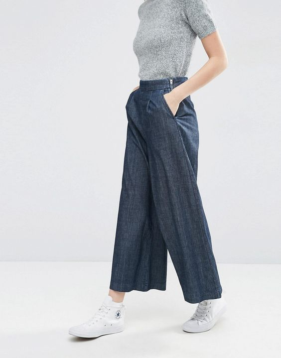 image 4 asos pantalon large en jean textur plus
