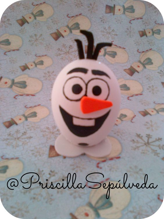 DIY Easter Eggs olaf #Easter #eggs #frozen #olaf: