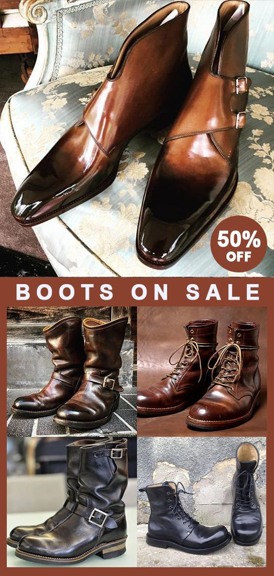 Men boots Now 50% OFF! Use promo code