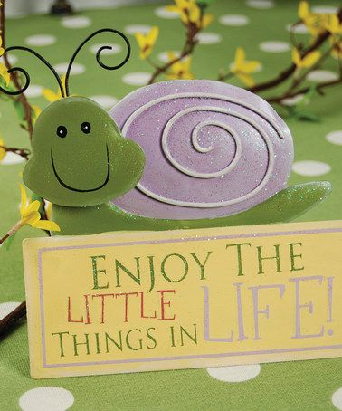 Take a look at this Snail 'Enjoy the Little Things' Figurine by Adams & Co. on #zulily today!