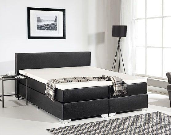 Boxspringbett Kunstleder schwarz 180 x 200 cm PRESIDENT - schlafzimmer komplett günstig