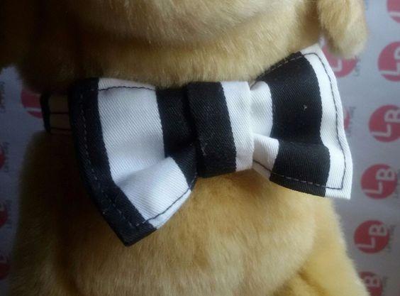 Perro: Collares - Collar pequeño con pajarita - hecho a mano por Letsbag en…
