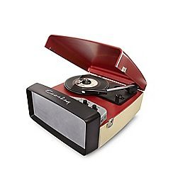 Crosley - Red collegiate portable USB turntable:
