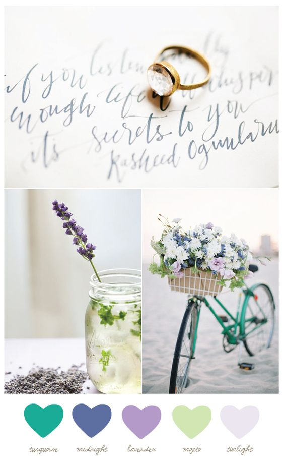 Color Palette: Turquoise and Twilight from The Sweetest Occasion