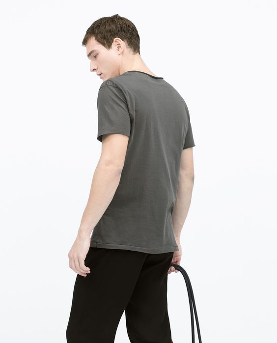 ZARA - NEW THIS WEEK - Washed effect T-shirt