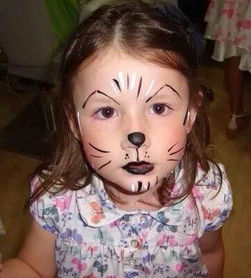 Easy Simple Puppy Face Painting: