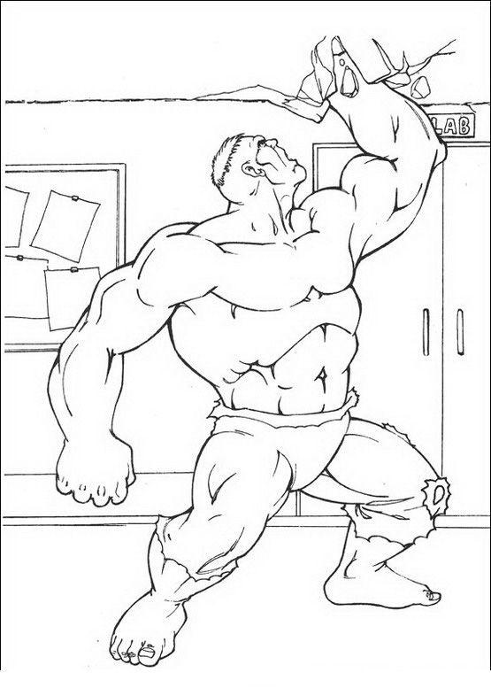 Coloriage Dessins. Hulk 16