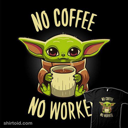 Coffee Required Yoda Funny Yoda Wallpaper Yoda Drawing